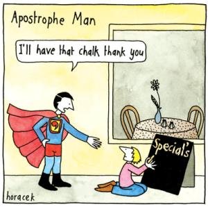 Apostrophe-man