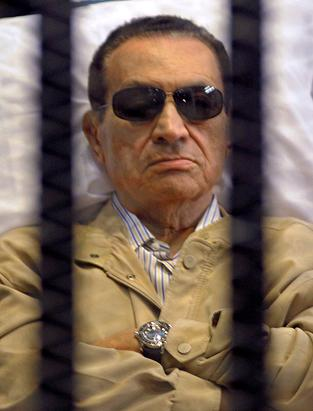 Hosni Mubarak in 2012: Imprisoned and hospitalized but not grey